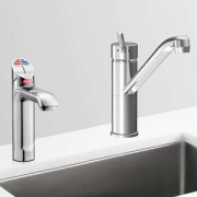 Zip HT1724UK HydroTap G4 Polished Chrome 4-In-1 Commercial Filtered Boiling, Chiiled Water Tap & Separate Hot/Cold Mixer Tap - R