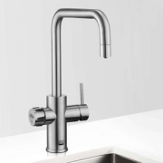 Zip MT3786Z1UK HydroTap Home G4 Brushed Chrome Residential Celsius Cube Style Boiling Filtered Water Tap 1.43kW W:280mm x D:313m