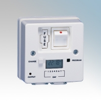 Heatrae Sadia 95.970.124 White 7 Day Digital Fused Spur Timeswitch