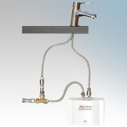 Zip ES4/MT InLine ES White Compact Electronic Instantaneous Water Heater With Single Lever Mixer Tap 0.2Ltrs 5.5kW