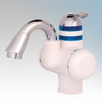 Redring 43-679001 TAP1 White Instantaneous Electric Hot Water Tap With Lever Control & Swivel Spout 2.5kW