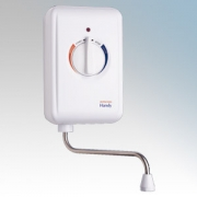Heatrae Sadia 95.020.114 Handy 7 White Instantaneous Handwash Water Heater With Single-Turn Rotary Dial 7.2kW 240V