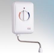 Heatrae Sadia 95.020.114 Handy 7 White Instantaneous Handwash Water Heater With Single-Turn Rotary Dial 7.2kW 240V