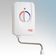 Santon 94.020.015 EV2008 3 White Instantaneous Handwash Water Heater With Single-Turn Rotary Dial 3kW 240V