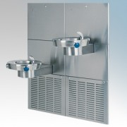 Zip CH155 Chill Fountain Stainless Steel Wall Mounted Water Chiller With Dual Water Bowls, Bump Action Electronic Controls & Bub