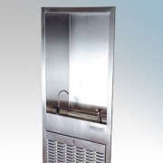 Zip CH104 Wall Fountain Stainless Steel Recessed Chilled Water Wall Fountain With Carafe Filler & Bubbler 1.8Ltrs