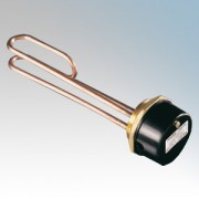 Heatrae Sadia 95.110.306R Gold Dot Domestic Immersion Heater With RDT Resettable Thermostat & Copper Sheath 3kW 240V Length : 27
