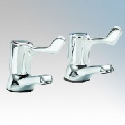 Heatrae Sadia 95.970.315 Pack X Chrome Hot & Cold Basin Taps With ¼ Turn Short Lever