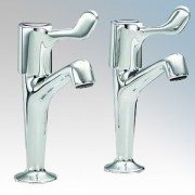 Heatrae Sadia 95.970.318 Pack W Chrome Hot & Cold Pillar Taps With ? Turn Short Lever