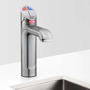 Zip HT1708Z1UK HydroTap G4 Classic Satin Chrome Commercial Boiling & Free Flow Chilled Water Tap - Up To 160 Cups Per Hour 1.9kW